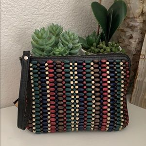 PATRICIA Nash Wristlet pouch: Wood Bead Collection